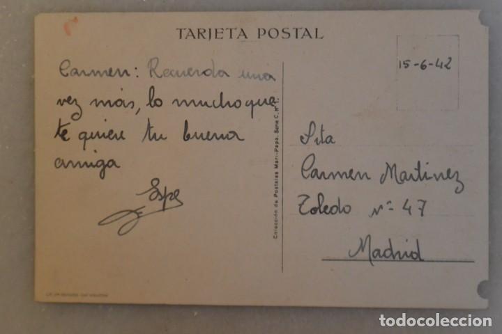 Postales: TARJETA POSTAL DE NIÑOS MARI PEPA MARIA CLARET. ENERO. 1942 - Foto 2 - 195191693