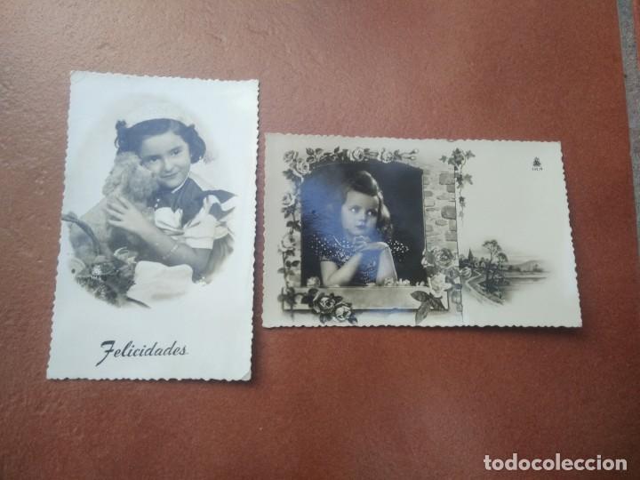 LOTE DE 2 POSTALES NIÑAS (Postales - Postales Temáticas - Niños)