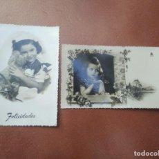 Postales: LOTE DE 2 POSTALES NIÑAS. Lote 195228125