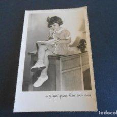 Postales: BONITA POSTAL DE NIÑA LEYENDO EXCLUSIVA SOBRE. Lote 195292023