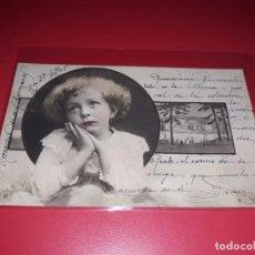 Postales: POSTAL FECHADA 1905 ESCRITA Y SELLADA. Lote 195498502