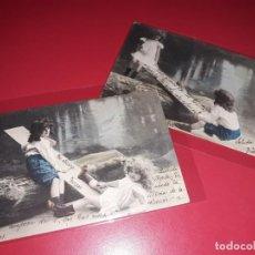 Postales: SERIE 2 POSTALES FECHADAS 1904 ESCRITAS Y SELLADAS. Lote 195499108