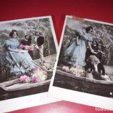 Postales: SERIE 2 POSTALES FECHADAS 1901 ESCRITAS Y SELLADAS. Lote 195499567