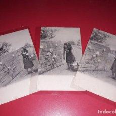 Postales: SERIE 3 POSTALES PRINCIPIOS DE 1900 LIMPIAS. Lote 195500306