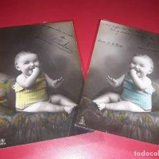 Postales: SERIE 2 POSTALES FECHADA 1910 ESCRITAS. Lote 195500793