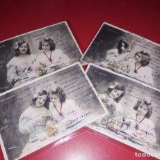 Postales: SERIE 4 POSTALES FECHADA 1905 ESCRITAS Y SELLADAS. Lote 195501800