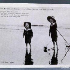 Postales: POSTAL FRANCESA RONCE LES BAINS SUR LA PLAGE REPRO CLICHÉ BRAUN HACIA 1900 SIN CIRCULAR. Lote 195727056
