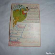 Postales: BONITA TARJETA DE MENU PINTADA A MANO NIÑA CON PERRO FECHADA 28/8/1927. Lote 196292690