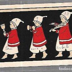 Postales: TARJETA POSTAL. INFANTIL. FILA DE NIÑOS CON PIJAMA E INSTRUMENTOS MUSICALES. Lote 196725993