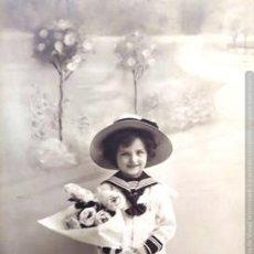 Postales: ANTIGUA POSTAL FOTOGRAFICA CIRCULADA - NIÑO DE MARINERO. Lote 197444343