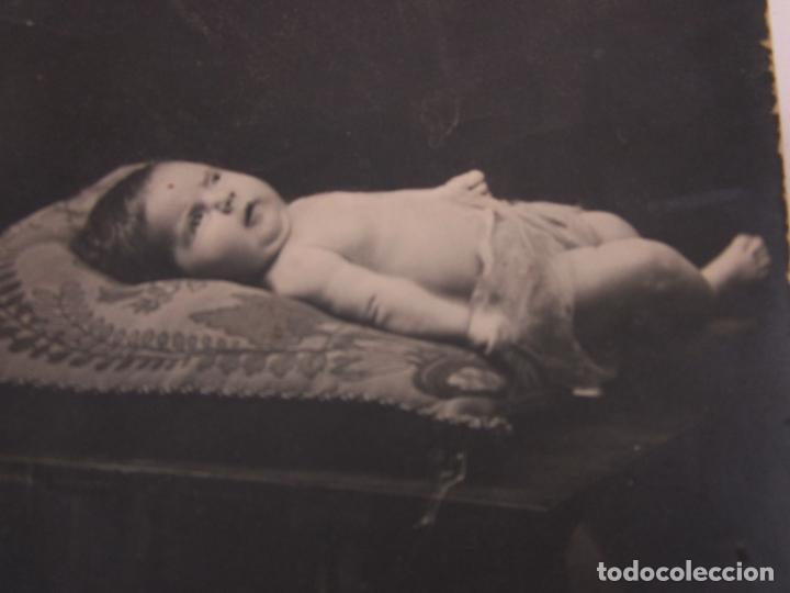 Postales: Tarjeta Postal - Postal con Niño ( Nacimiento o Post Mortem) - Principios S. XX - Foto 2 - 197737248