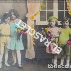 Postales: ANTIGÜA POSTAL FOTOGRAFICA DE FELICITACIÓN EN COLOR -ESCRITA POR EL REVERSO. Lote 198094410
