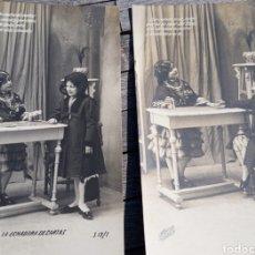 Postales: P11155.-PAREJA POSTALES FOTOGRAFCAS NIÑOS PRINCPIOS SXX.. Lote 198551537