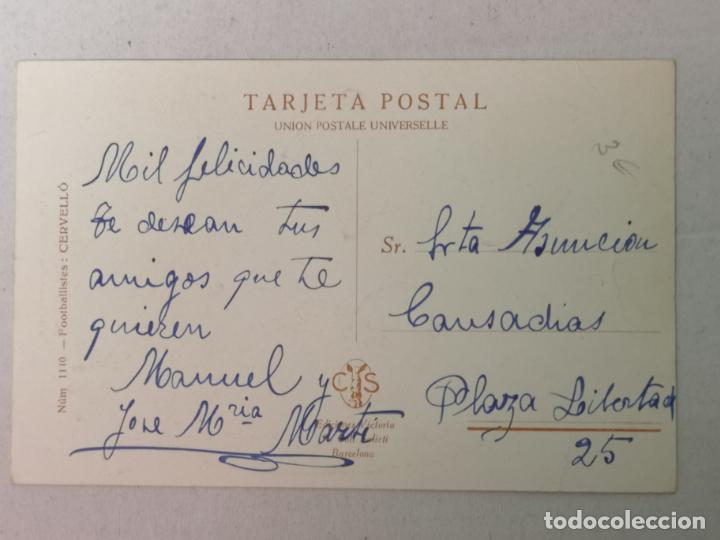 Postales: PORTERO DE FÚTBOL DIBUJO DE CERUELLO - Foto 2 - 204080232