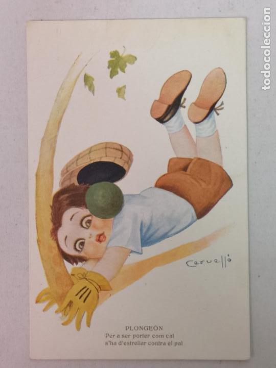 PORTERO DE FÚTBOL DIBUJO DE CERUELLO (Postales - Postales Temáticas - Niños)