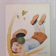 Postales: PORTERO DE FÚTBOL DIBUJO DE CERUELLO. Lote 204080232