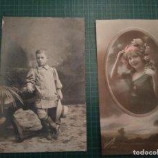 Postales: 2 POSTALES ANTIGUAS AÑO 1916 -TEMA NIÑOS. Lote 204824615
