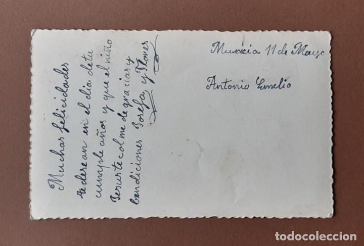 Postales: ANTIGUA POSTAL NIÑOS CON FLORES. ESCRITA. MURCIA. - Foto 2 - 206253667