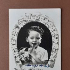 Postales: ANTIGUA POSTAL NIÑO CON FLORES. 908. EDITION LA CIGOGNE. PARIS. ESCRITA EN 1947. NO CIRCULADA.. Lote 206255380