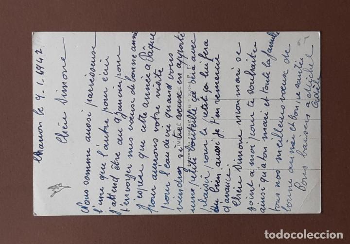 Postales: ANTIGUA POSTAL NIÑO CON FLORES. 908. EDITION LA CIGOGNE. PARIS. ESCRITA EN 1947. NO CIRCULADA. - Foto 2 - 206255380