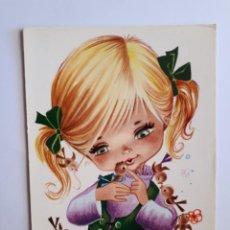 Postales: POSTAL INFANTIL ILUSTRADA. AÑOS 70. Lote 206327991
