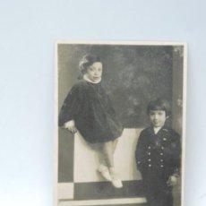 Postales: FOTO POSTAL DE NIÑOS, FOTO CAV. M. ACARELLI, BARI, NO CIRCULADA. ESCRITA EN 1936.. Lote 206521303