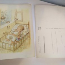 Postales: HAGA SU OFERTA POSTAL INFANTIL BEBE CUNA O ROMANTICA NIÑOS ILUSTRADA ILUSTRADOR ANTIGUA ORIGINAL. Lote 207065292