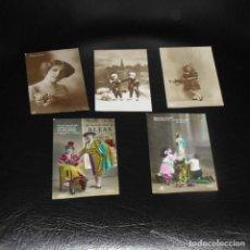 Postales: COLECCIÓN DE 5 POSTALES. AÑOS 1920S. SIN CIRCULAR.. Lote 207121687