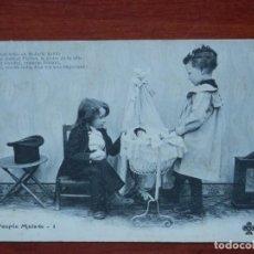 Postales: RARA COLECCIÓN 10 POSTALES ANTERIORES A 1905 NIÑOS - LA PUPÉE MALADE - HISTORIA. Lote 210463363