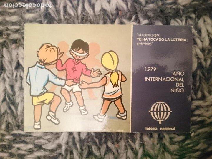 POSTAL 1979 AÑO INTERNACIONAL DEL NIÑO - LOTERIA NACIONAL (Postales - Postales Temáticas - Niños)