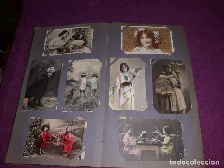 Postales: Album con 300 Postales niños e infantil Desde Principios del Siglo IXX Muchas Escritas con Sello - Foto 4 - 211619494
