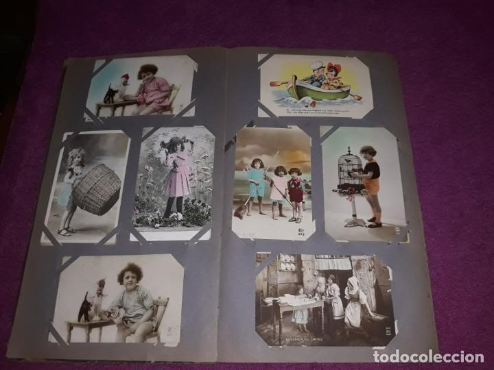 Postales: Album con 300 Postales niños e infantil Desde Principios del Siglo IXX Muchas Escritas con Sello - Foto 5 - 211619494