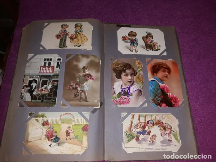 Postales: Album con 300 Postales niños e infantil Desde Principios del Siglo IXX Muchas Escritas con Sello - Foto 6 - 211619494