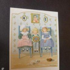 Postales: NIÑOS CON GATO POSTAL ILUSTRADA PAULI EBNER ILUSTRADORA. Lote 212048353