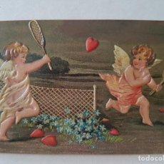 Postales: ANGELES JUGANDO AL TENIS POSTAL. Lote 212284540