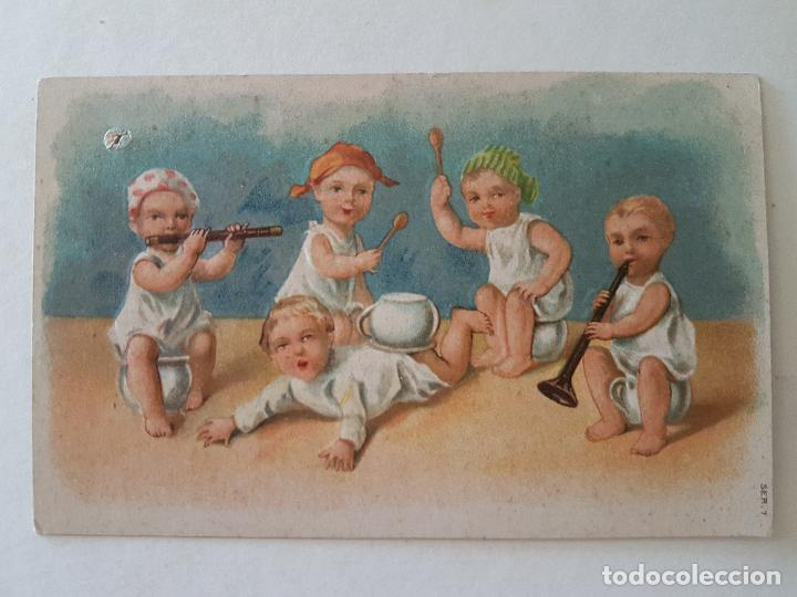 NIÑOS CON INTRUMENTO POSTAL (Postales - Postales Temáticas - Niños)