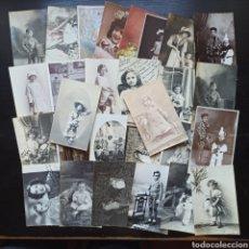 Postales: GRAN LOTE DE 28 POSTALES NIÑOS Y NIÑAS / AÑOS 20-30-40. Lote 212409085