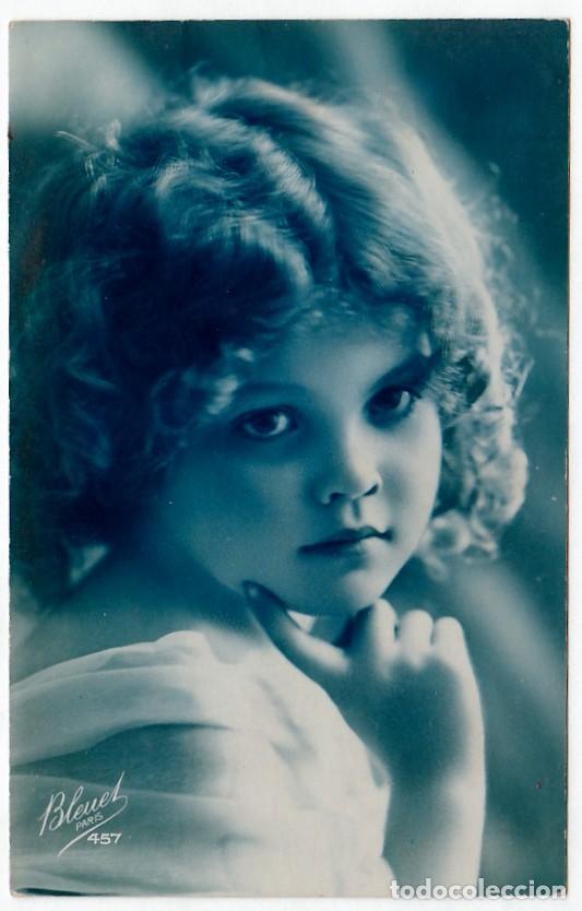 PRECIOSA NIÑA. POSTAL MODERNISTA. BLEUET, PARIS 457. ESCRITA EN 1925. PT (Postales - Postales Temáticas - Niños)