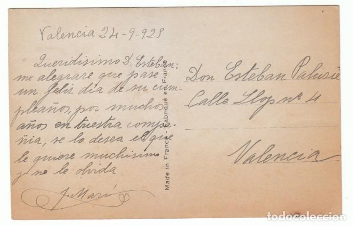 Postales: Preciosa niña. Postal modernista. Bleuet, Paris 457. Escrita en 1925. pt - Foto 2 - 215264093