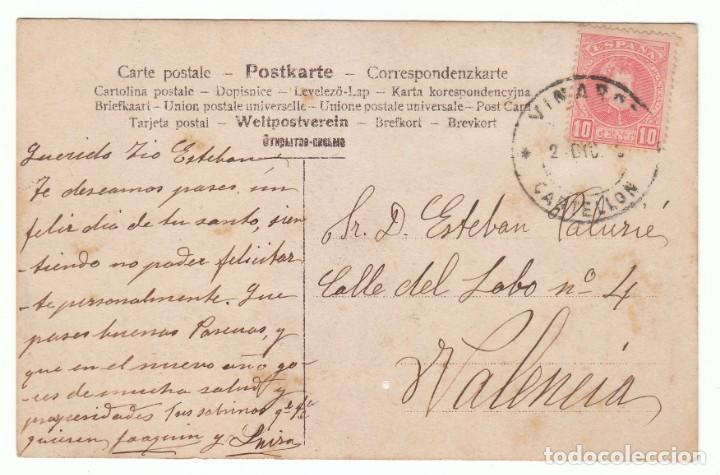 Postales: Magnífica postal coloreada. Preciosa niña con gran lazo. Escrita 1910-20 pt - Foto 2 - 215622481