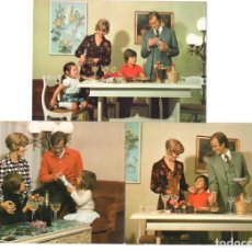 Postales: FAMILIA TRADICIONAL · SERIE 6169 (3 POSTALES) -EDICIONES SAVIR-. Lote 218479301