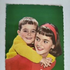 Postales: POSTAL PAREJA NIÑOS ESCRITA AÑO 1964. Lote 219698412