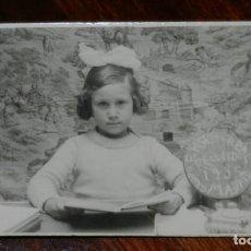 Postales: FOTO POSTAL DE NIÑA DEL GRUPO EMG DEL REAL, RECUERDO DE 1935, MADRID, COLEGIO, ESCUELA.. Lote 221122520