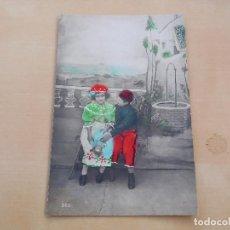 Postales: POSTAL ANTIGUA NIÑA CON MUÑECA DE PORCELANA CIRCULADA 1907. Lote 221150151
