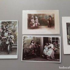 Postales: LOTE DE 4 POSTALES DE NIÑOS. PRIMERA DÉCADA SIGLO XX. Lote 221287327