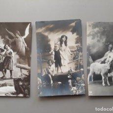 Postales: LOTE DE 3 POSTALES DE TEMÁTICA RELIGIOSA: ÁNGEL DE LA GUARDA Y SAN JUAN BAUTISTA NIÑO. Lote 221288398