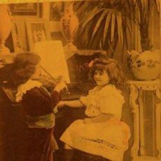 Postales: P-11687. MUSIQUE DE CHAMBRE. POSTAL COLOREADA PHOT. ANTHONY'S . PARÍS. AÑO 1915.. Lote 222579186