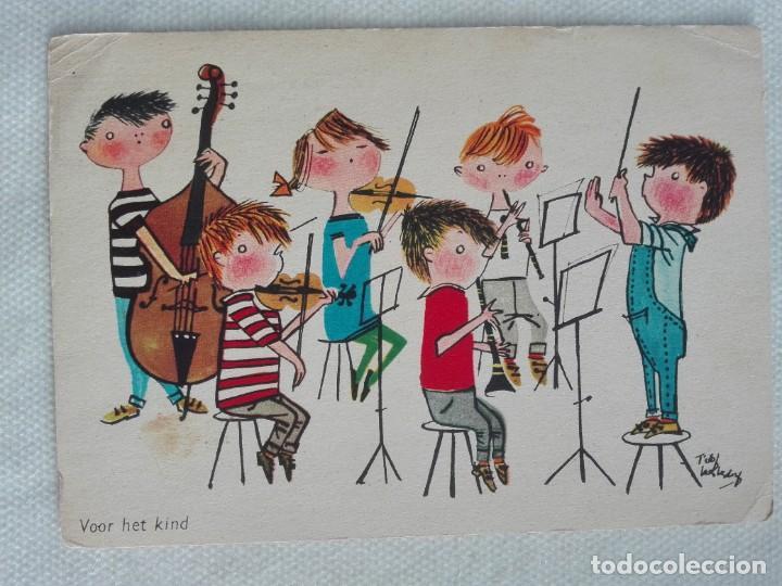 POSTAL2286 ESCRITA - DRUKKERIJ SENEFELDER AMSTERDAM NEDERLAND - ORQUESTA MUSICA NIÑOS (Postales - Postales Temáticas - Niños)