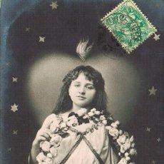 Postales: UNA NIÑA, CIRCULADA EN 1907. Lote 228301875