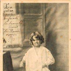 Postales: NIÑA, DE RAYADO CONTINUO CIRCULADA EN 1905, VER EL DORSO. Lote 228302730